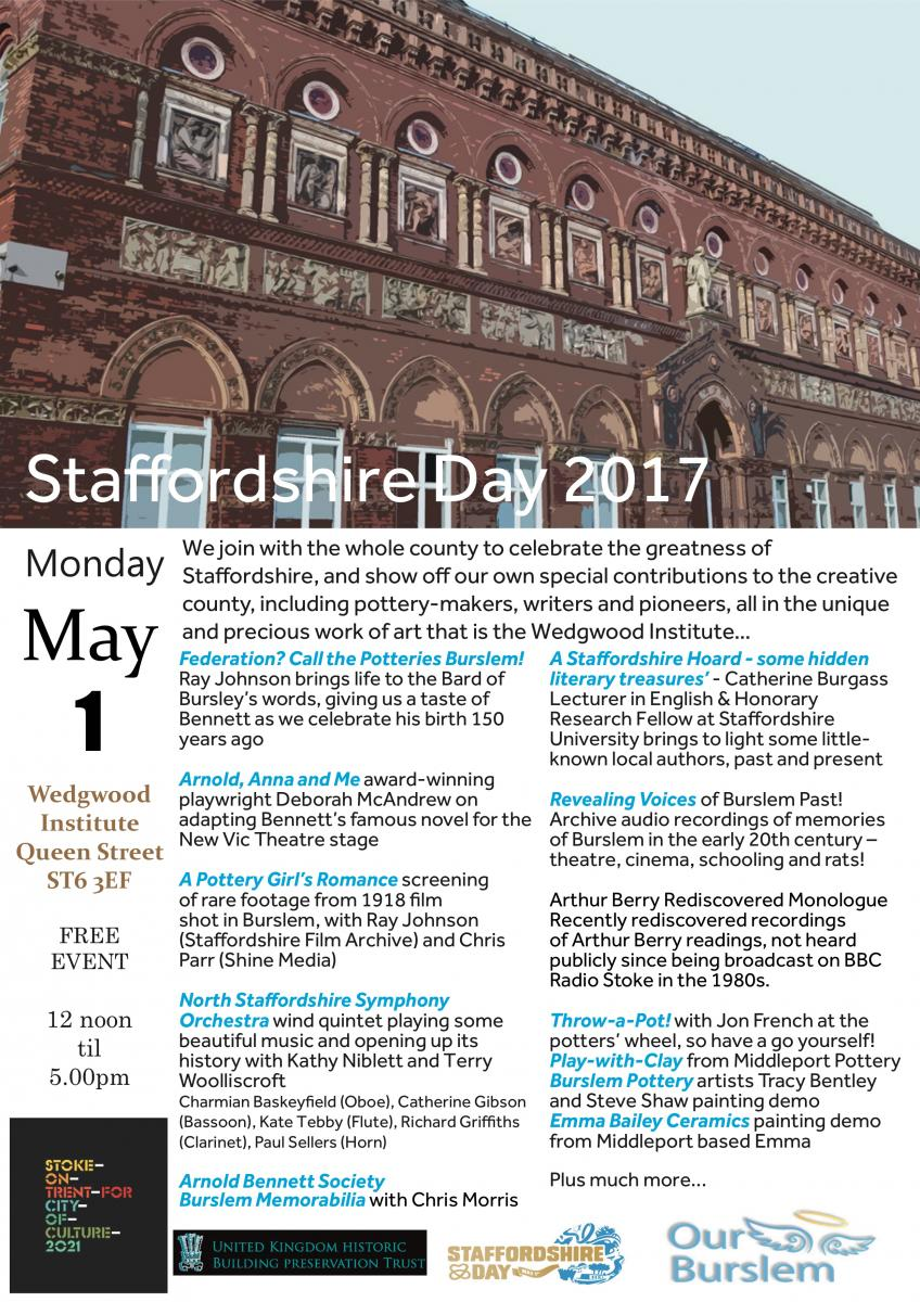 Staffordshire Day Flyer
